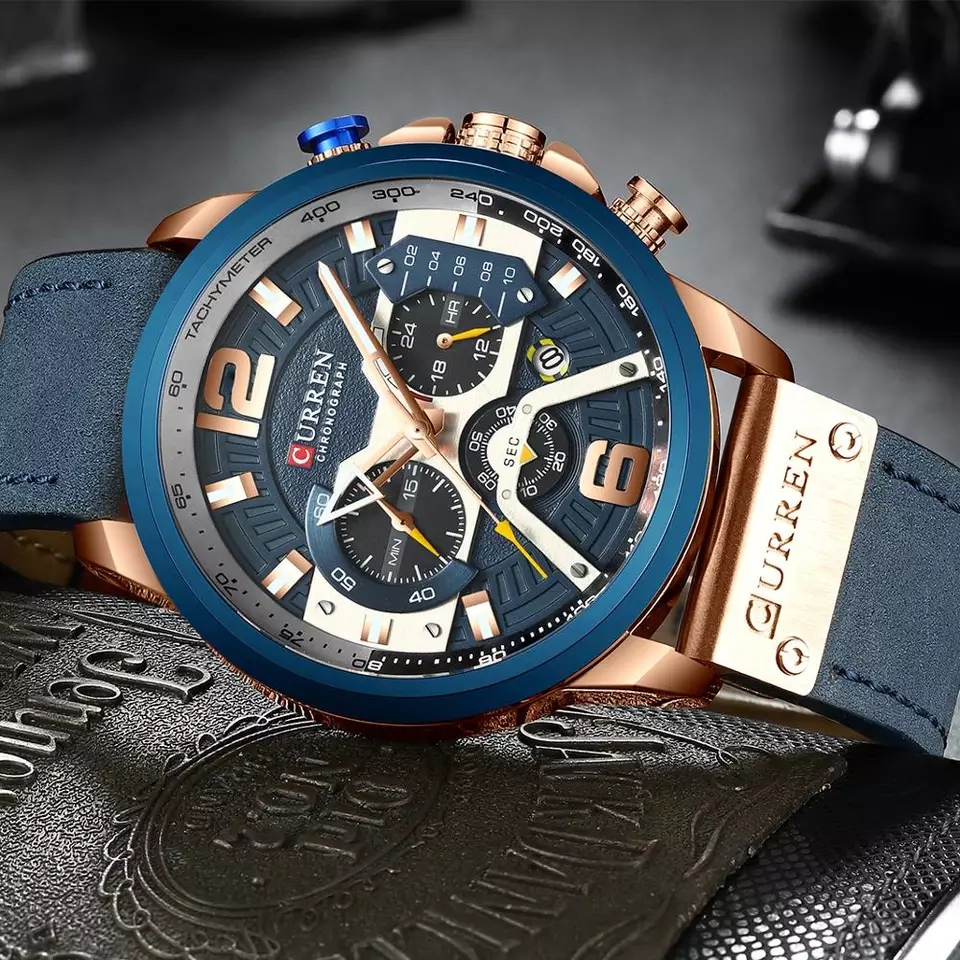 Curren leather chronograph